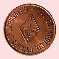 Princes of Jerusalem, Council of Madison; Masonic medallion