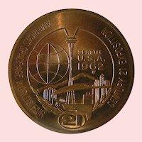 Seattle 1962 Century 21 World's Fair $1 token