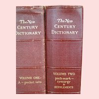 New Century Two Vol Dictionary and compendium 1948 ed.