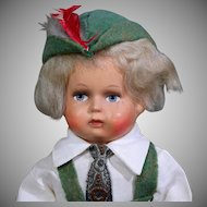 World Costume Doll from Newark Museum as German Boy in Original Box