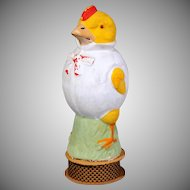 Papier Mache German Chick Candy Container