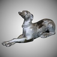 Metal Borzoi Dog in Sitting Position