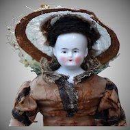 Wigged China in Fabulous Antique Ensemble