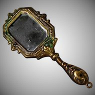 Miniature Hand-Held Mirror for French Fashion Doll