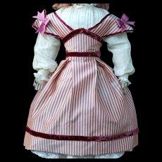 "Silk Taffeta Swiss Dress for 15"" French Doll - Red Tag Sale Item"