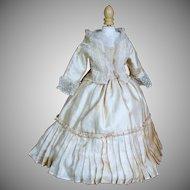 "Antique Two Piece  Silk Ensemble for 14-15"" French Fashion Doll"