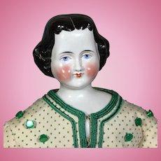 Expressive German China Lady 1860's
