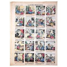 French 19th Century Épinal Prints, Five Uncut