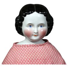 "Antique 19"" Kister German China Child Doll"