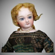 Softly-Hued Jumeau French Fashion Poupee in Lovely Antique Dress