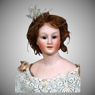 Uncommon Bisque Lady Doll by Gebruder Heubach, 12""