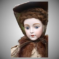 SUPERB French Character Doll In the Prevost Manner on Early Wooden Body, 22 inches
