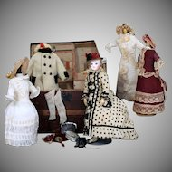 French Fashion Poupee Peau by Gaultier  with Trousseau and Trunk