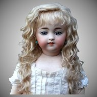 Grace ~ (Size 10-11) Blond Side Part with Extensions Mohair Wig