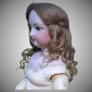 French Fashion Mohair Wig with Long Curls Blond Size 6-7