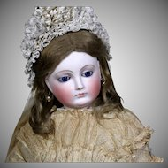 Large French Bisque Poupee Peaux ~ Stately 27 inches