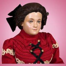 RARE Wooden Portrait Doll