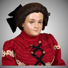 RARE Wooden Portrait Doll