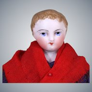 Painted Eye Barrois Doll in Original Folklore Costume