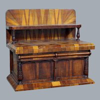 Antique Sideboard Jewelry Box with Secret Compartment