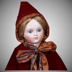 Early Kestner as Little red Riding Hood, 20 Inches