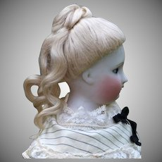 French Fashion Mohair Wig ~1870 Updo~Size 7.5
