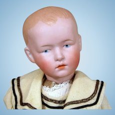 German Character Boy in Original Antique Costume, 14 inches tall.