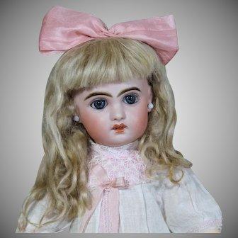 Jumeau Bebe size 6 with Rare Sleep Eyes, 17 inches