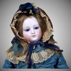Early French Poupee Peau Attributed to Barroi, 13 inches