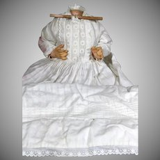 Antique Large Baby Body with Antique Gown and undies