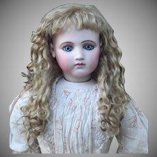 Gabrielle ~ (Size 12-13) Antique Chestnut Blond Mohair Wig