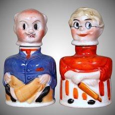 "Amusing German ""Mr. and Mrs. Carter"" Inkwells"