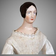 Brown Haired Royal Copenhagen China Reissue on Old Body & Antique Clothing