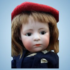 Uncommon Heubach Pouty Lookalike Character by F.Y. Nippon, 13 inches