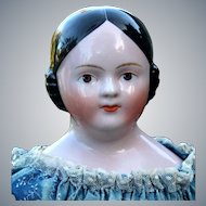 Kestner German china Doll with Painted Lashes, Brown Eyes