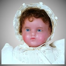 CHOICE! Poured Wax Baby in Superb condition and Antique Box