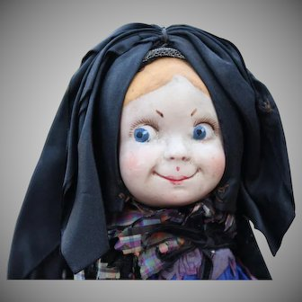 "HTF French Character Googly Doll ""Gretel"", 7.5 inches"