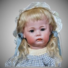 K*R 115 German Bisque Pouty Character Toddler, 16 inches