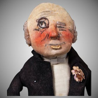 "Kammer & Reinhardt Cloth Character Doll, 12"""