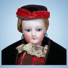 Young French Fashion Poupee Peau by Gaultier in Terrific Outfit, 12.5 inches.