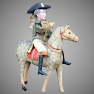 "George Washington on Horse Candy Container, 11"" high."