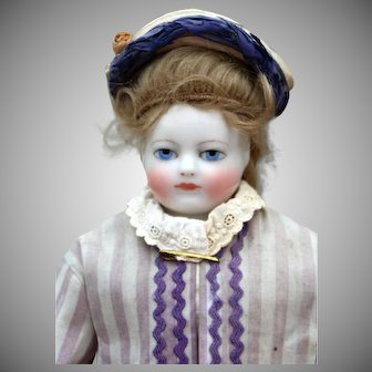 French Porcelain Poupee attributed to Blampoix, 14 inches