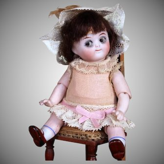 RARE Kestner 112 Googly Doll with Rarer swivel head, Jointed Elbows and Jointed Knees, 5 inches