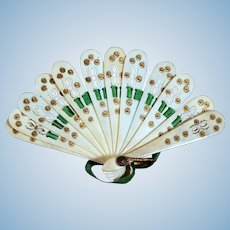 Pierced Miniature Bone Fan for your French Fashion