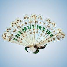 Pierced Miniature Bone Fan for your French Fashion