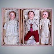 RARE French Multi-Head Set of SFBJ Characters in Original Box , Costumes