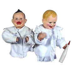 Mechanical Yes/No Character Babies Window Display
