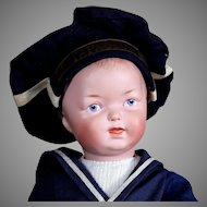 RARE Heubach Character Boy, 15 inches