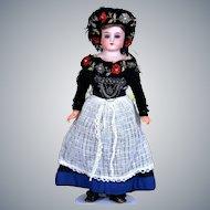 German Bisque Child in All-Original Eastern European Wear,  13 inches