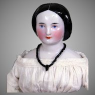 Early Bun China Doll with Gentle Expression, Great Clothing, 13 inches